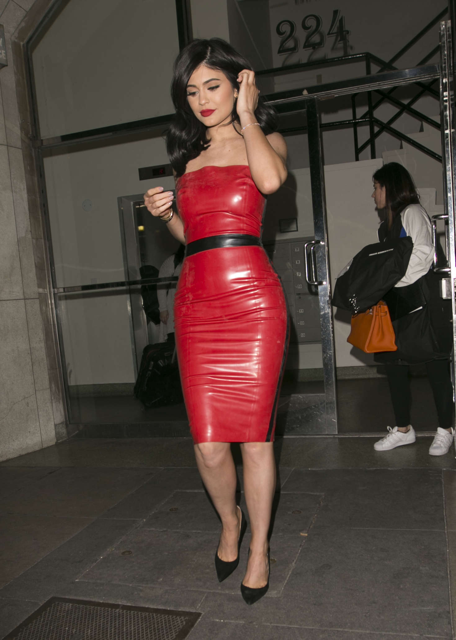 Kylie Jenner In Red Tight Dress -36