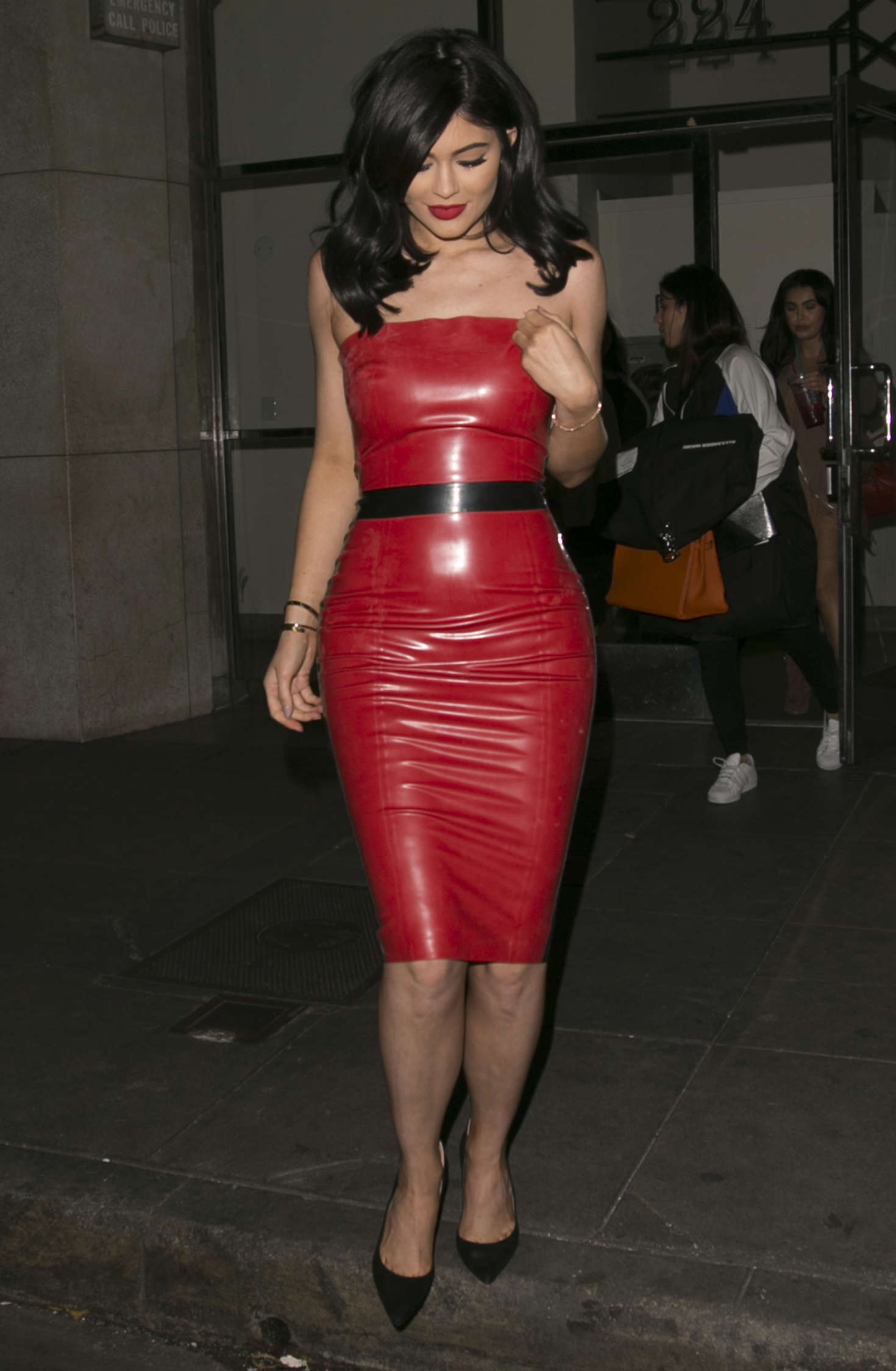 Kylie Jenner in Red Tight Dress -44 - GotCeleb