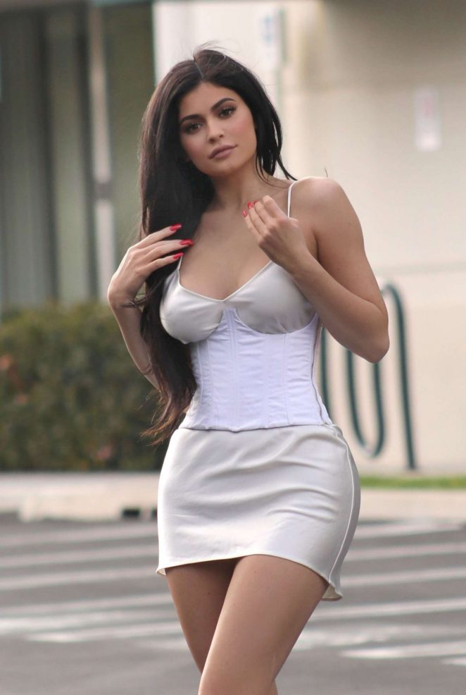Kylie Jenner in Short Dress out in Beverly Hills