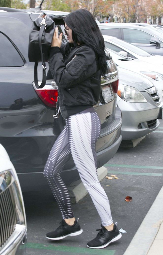 Kylie Jenner in Spandex out and about in Calabasas