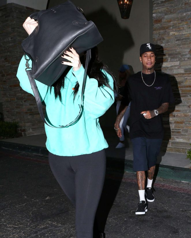 Kylie Jenner in Spandex out in Calabasas