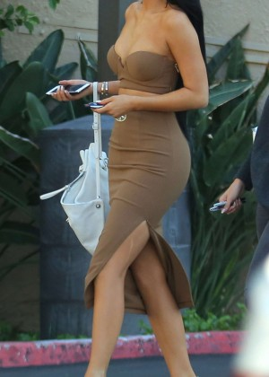 Kylie Jenner in Tight Dress Out in Woodland Hills