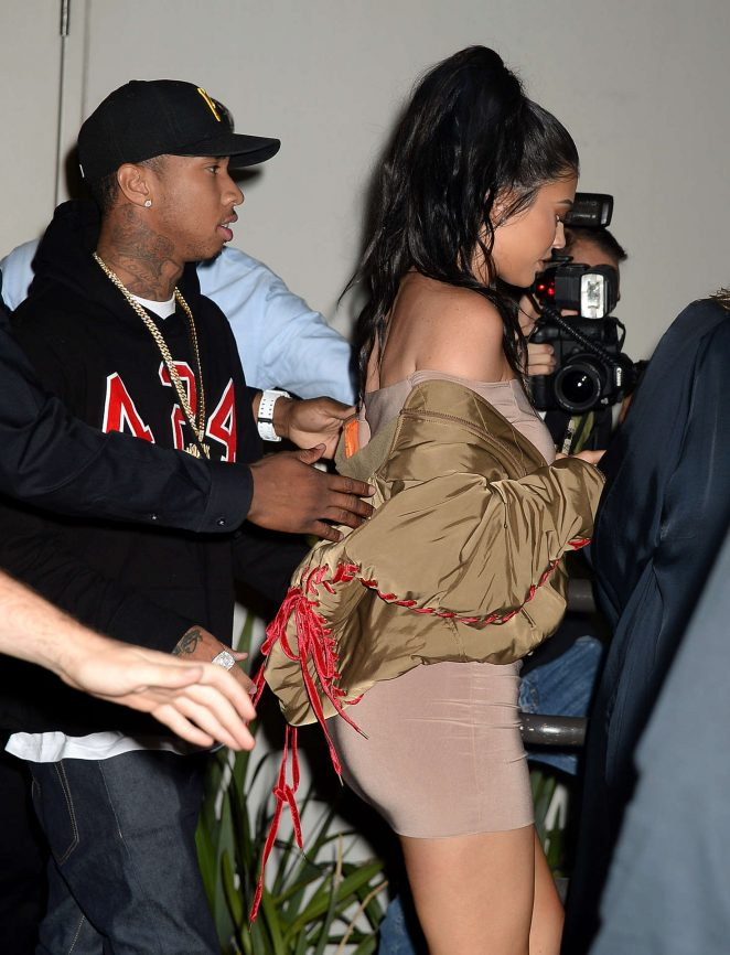 Kylie Jenner in Tight Short Dress in Hollywood