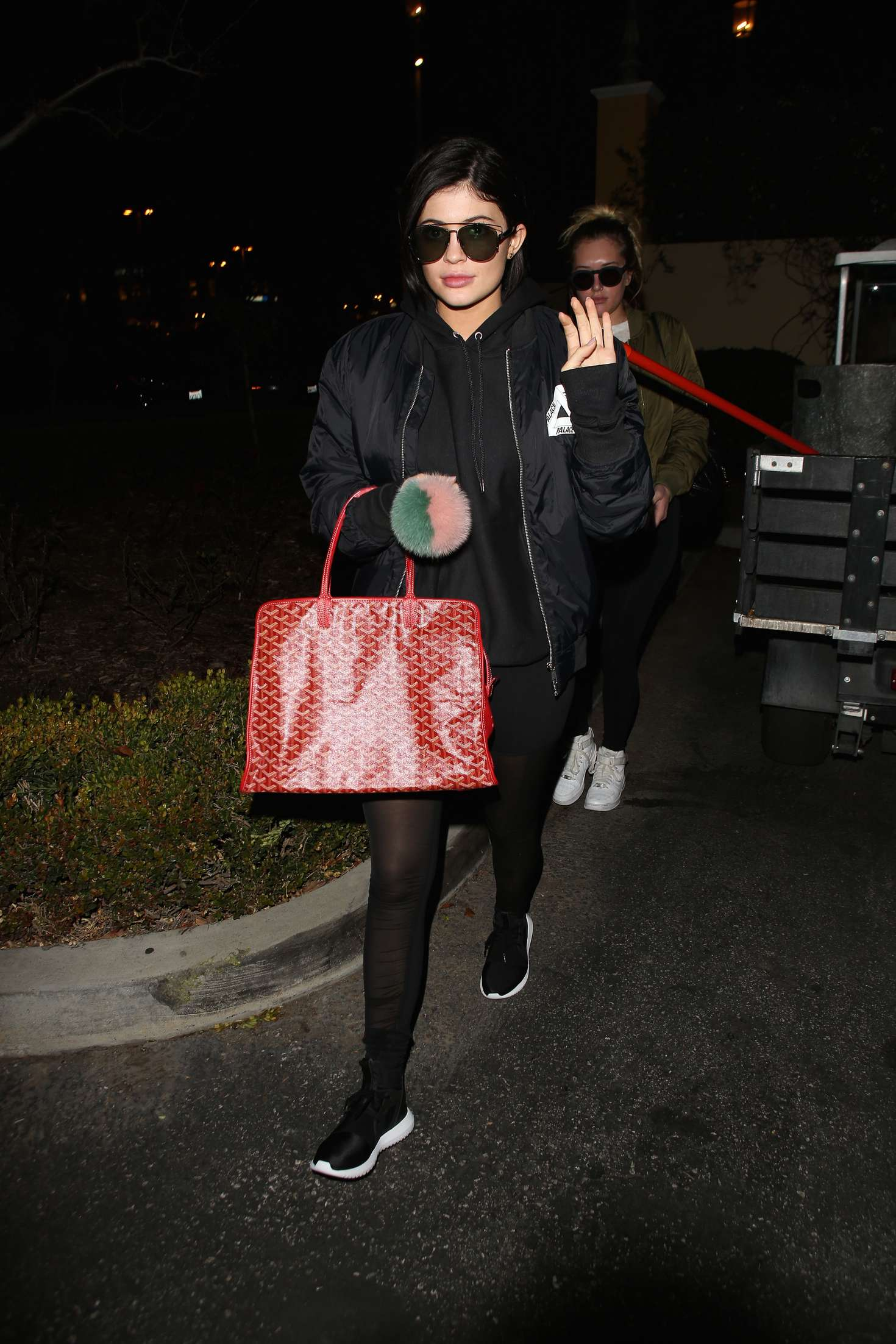 Kylie Jenner in Tights out in Calabasas