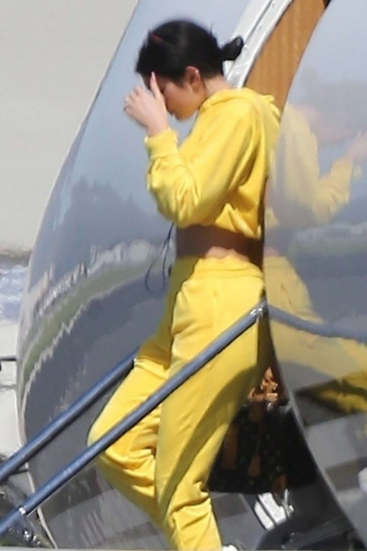 Kylie Jenner in Yellow - Arrives to Los Angeles