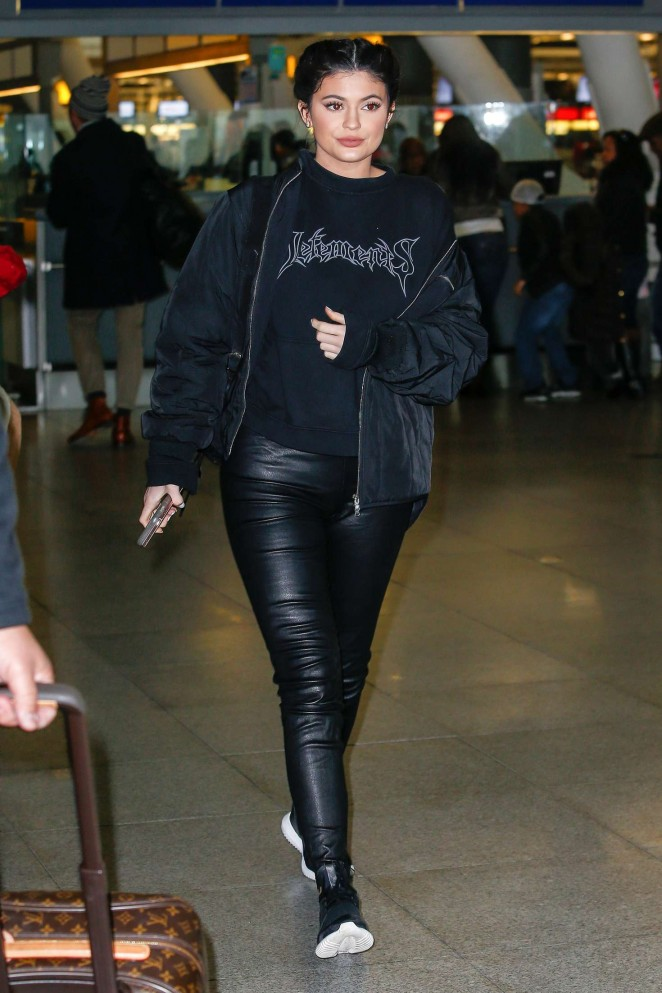 Kylie Jenner - JFK Airport in New York City