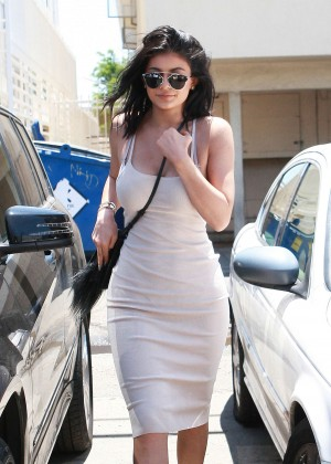 Kylie Jenner in Tight Dress at Joan's on Third in LA