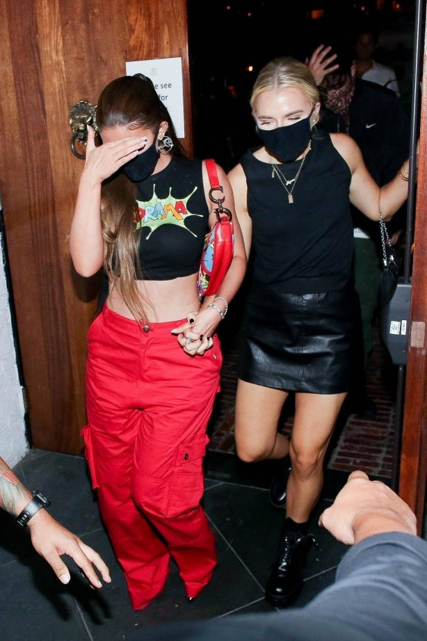 Kylie Jenner - keeps a low profile as she is spotted leaving 40 Love with friends in West Hollywood