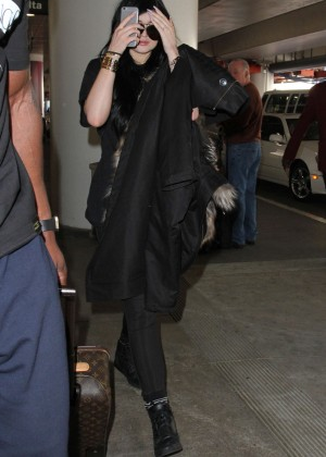 Kylie Jenner - LAX Airport in LA