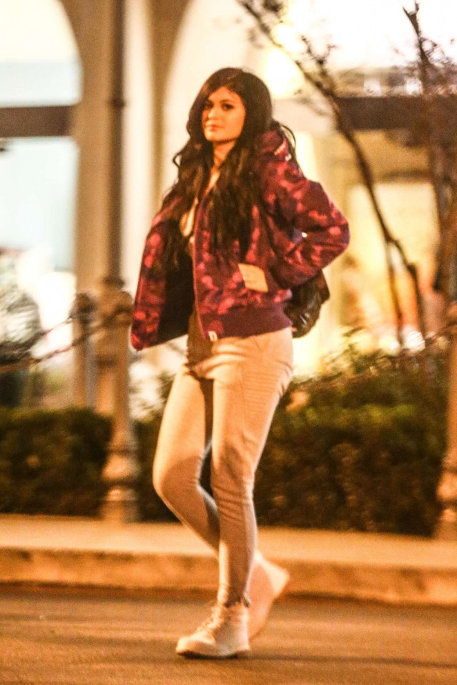 Kylie Jenner – Leaving a Movie Theater in Calabasas