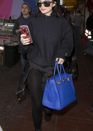 Kylie Jenner - Leaving a photoshoot in Los Angeles