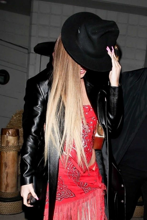Kylie Jenner - Leaving a western-themed party at SHOREbar in Santa Monica