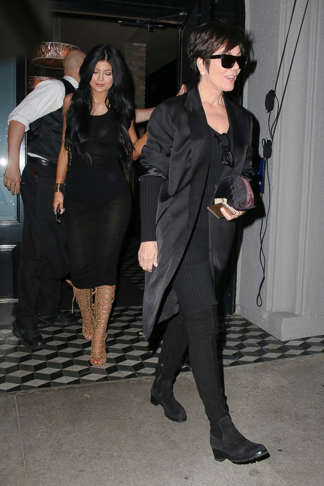 77919ff21 Kylie Jenner in Black Dress -01 | GotCeleb