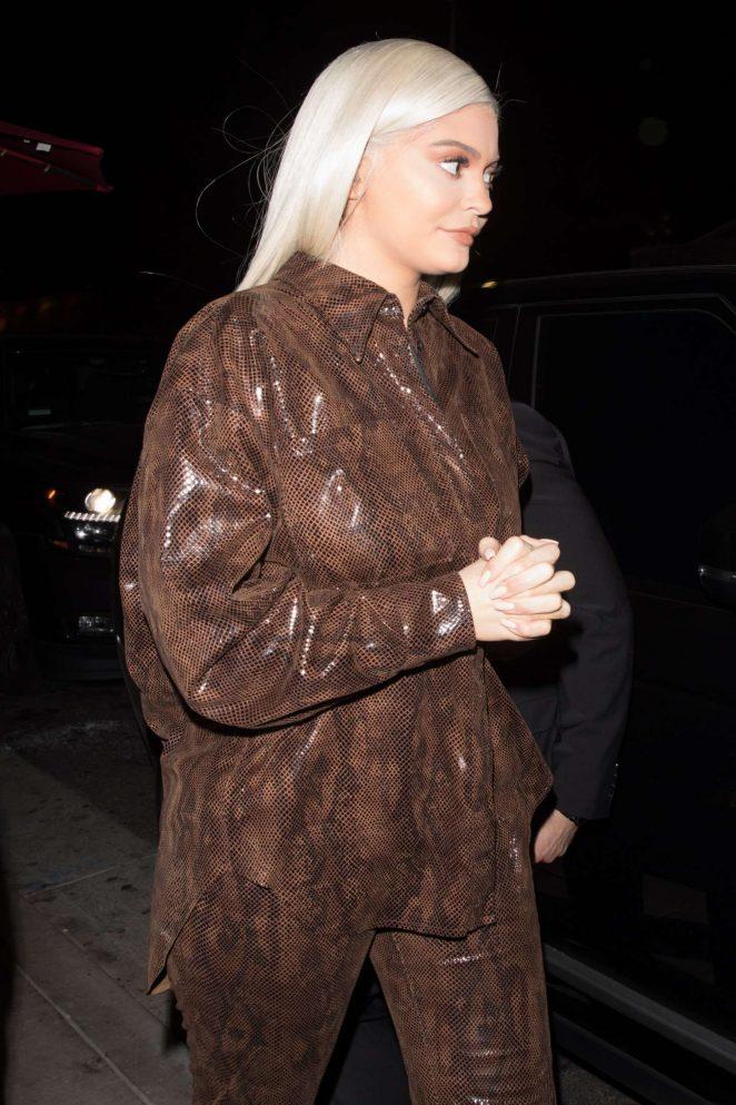 Kylie Jenner – Leaving her friend StassieBaby birthday dinner in Hollywood