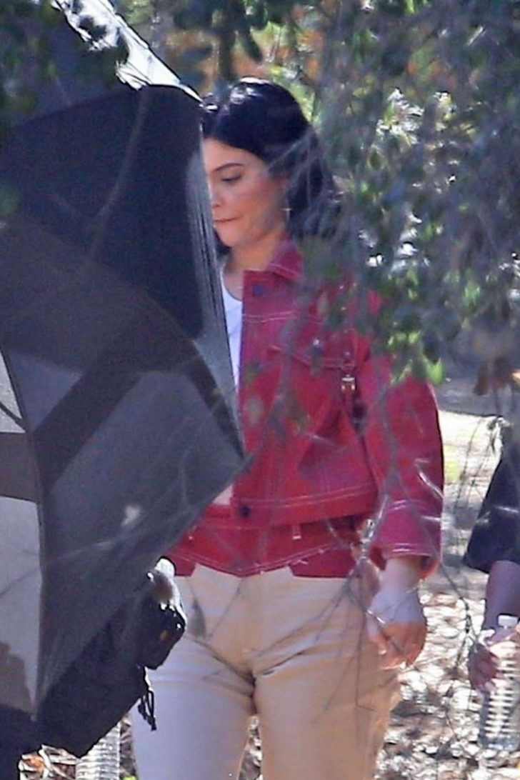 Kylie Jenner - Leaving Kanye West's church service in Los Angeles