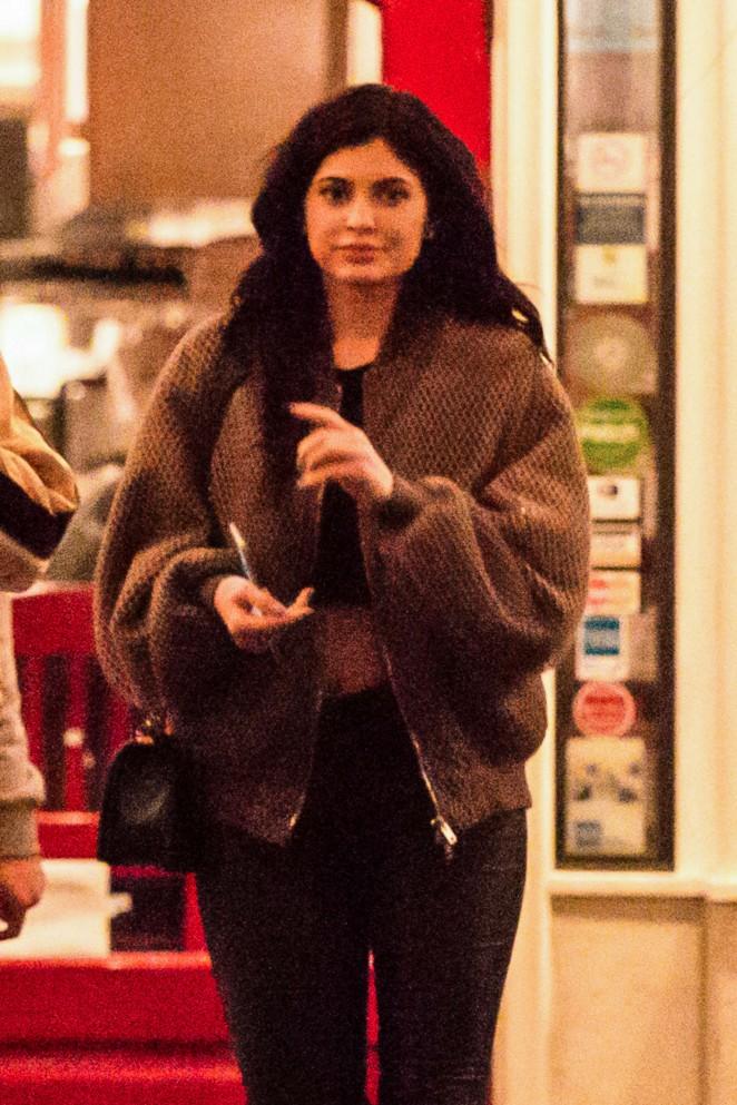 Kylie Jenner - Leaving Rosti Cafe in Calabasas