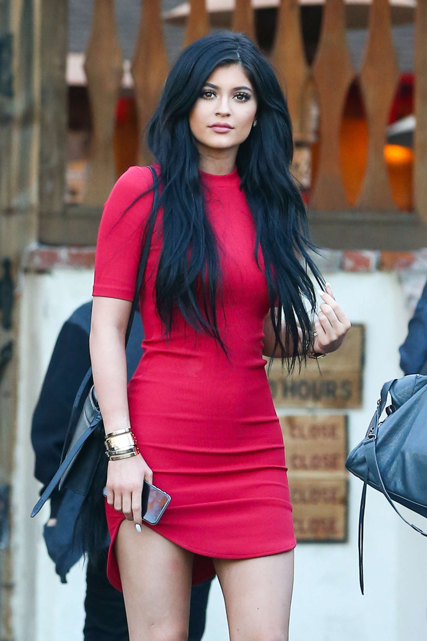 Kylie Jenner In Red Mini Dress -10