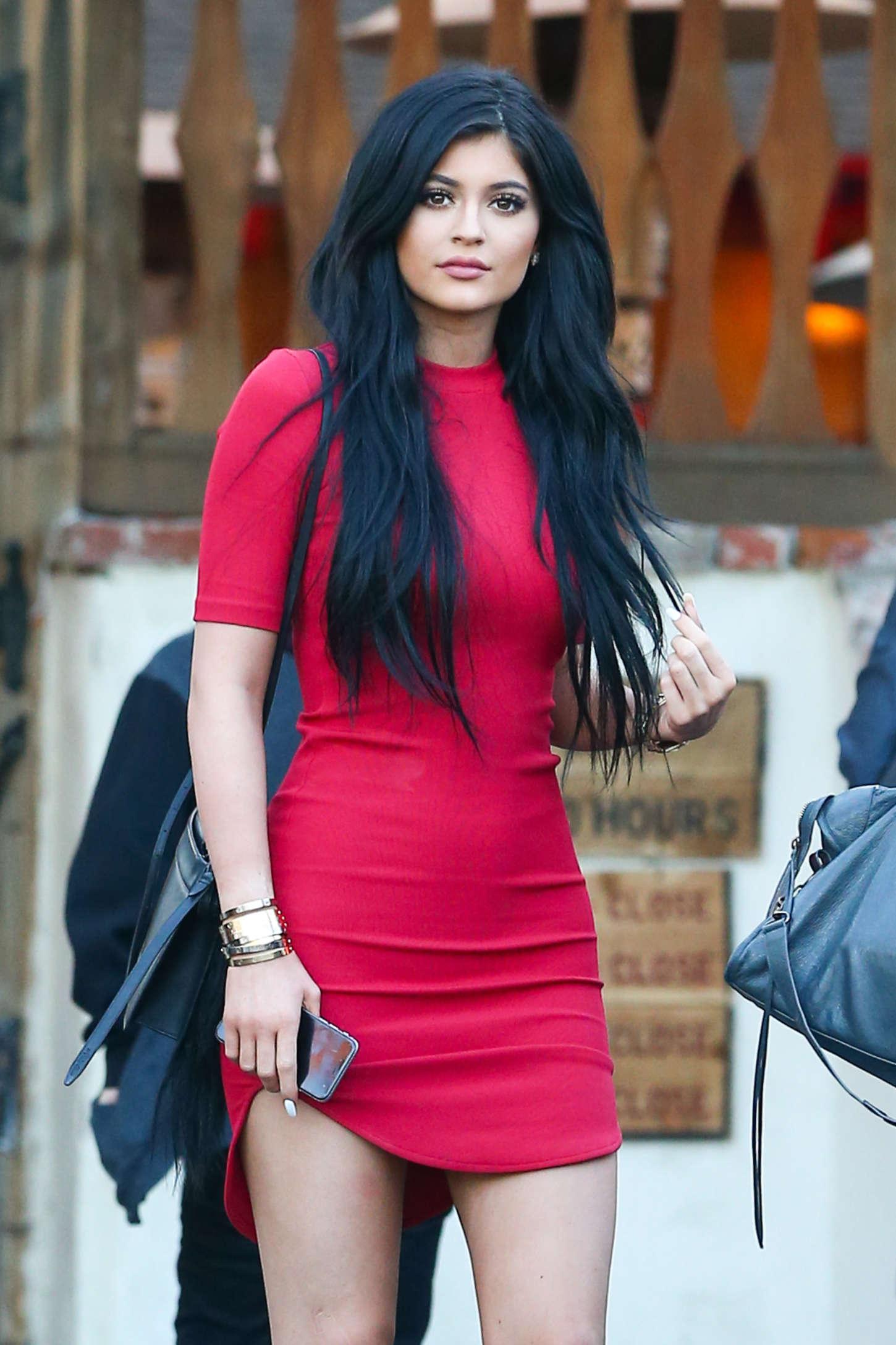 Kylie Jenner In Red Mini Dress 10 Gotceleb
