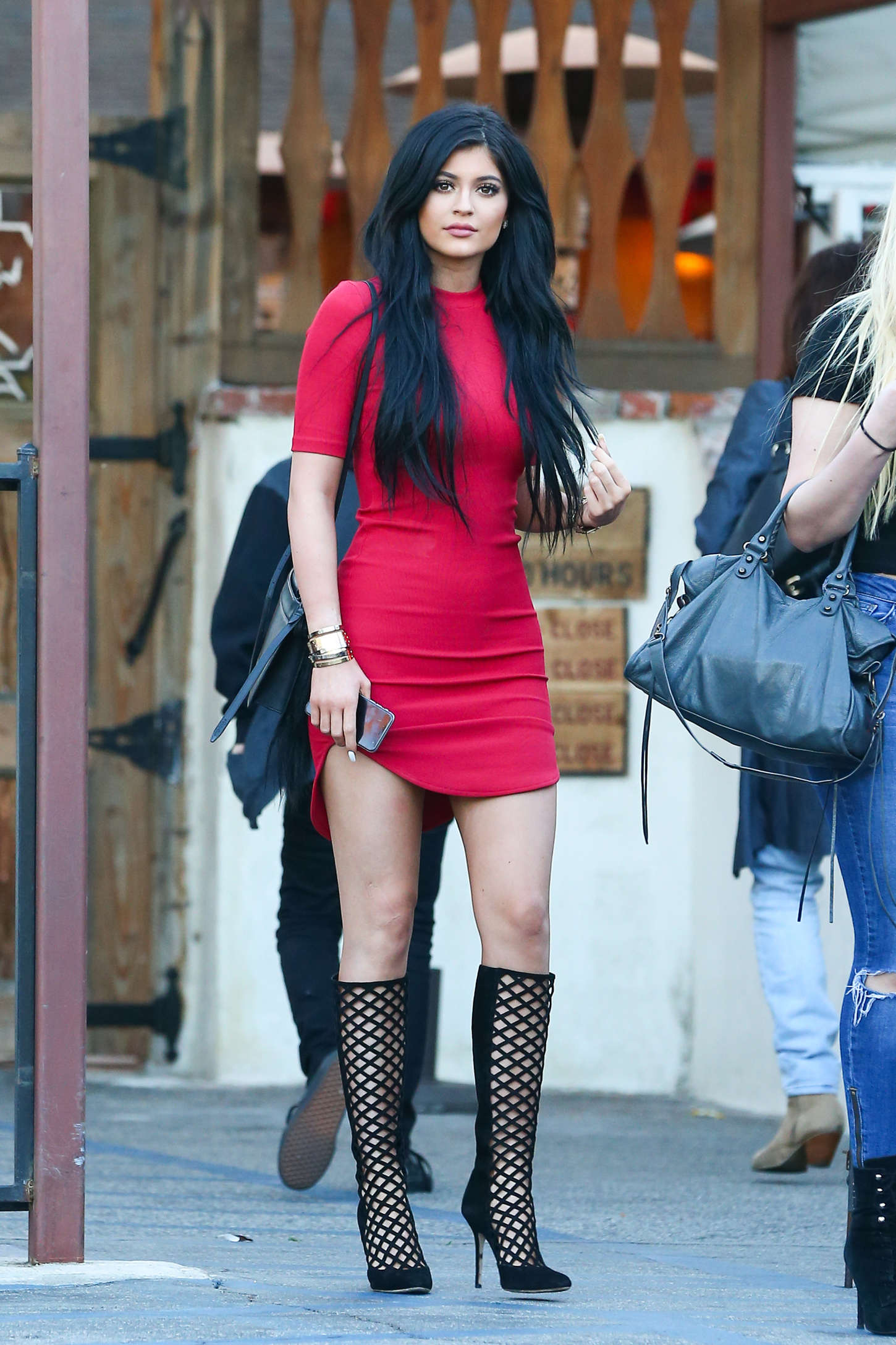 Kylie Jenner In Red Mini Dress 27 Gotceleb