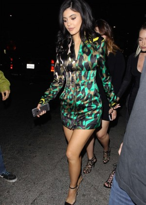 Kylie Jenner Leggy Candids at The Nice Guy -05