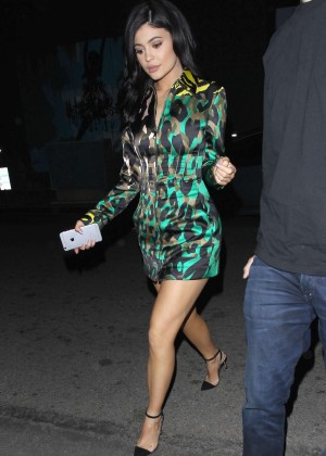 Kylie Jenner Leggy Candids at The Nice Guy -17