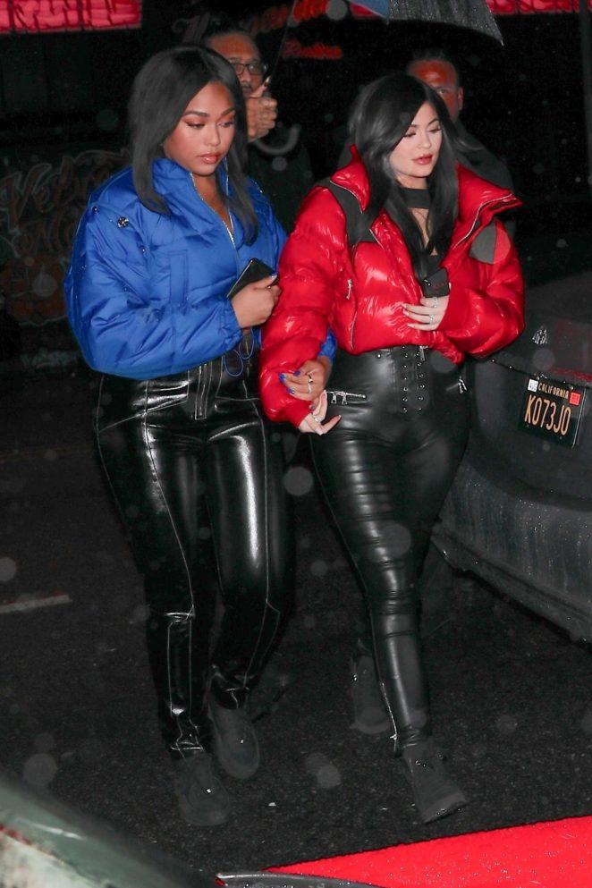 Kylie Jenner - Leaving Tristan Thompson's birthday celebration in LA