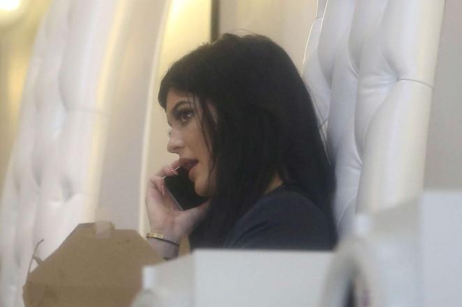Kylie Jenner at Nail Bar and Beauty Lounge -13