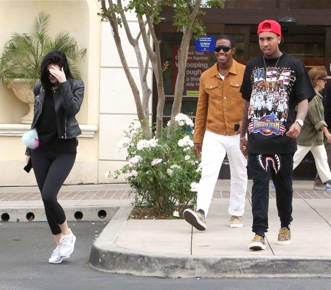 Kylie Jenner in Tight Leggings -06