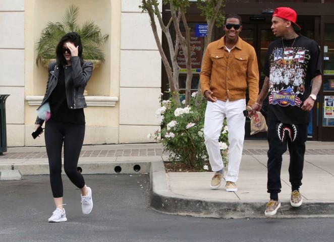 Kylie Jenner in Tight Leggings -12
