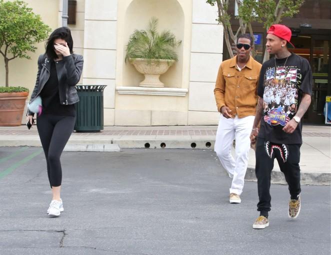 Kylie Jenner in Tight Leggings -13