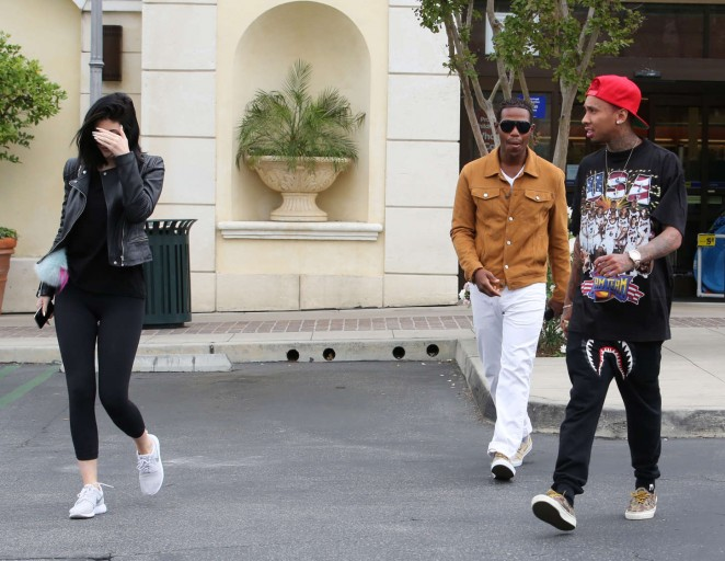 Kylie Jenner in Tight Leggings -21