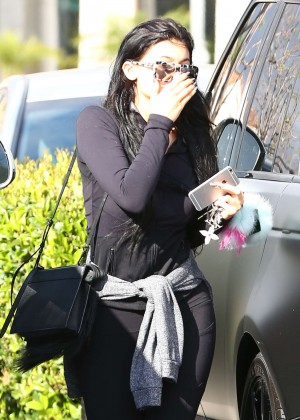 Kylie Jenner in Tight Leggings -24