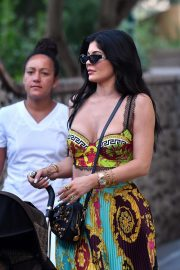 Kylie Jenner - Out and about in Capri