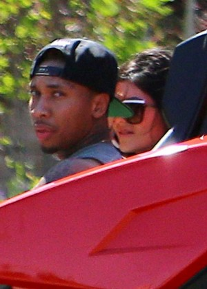 Kylie Jenner Out for a Ride with Tyga -01