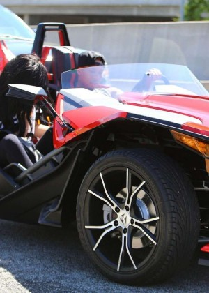Kylie Jenner Out for a Ride with Tyga -03