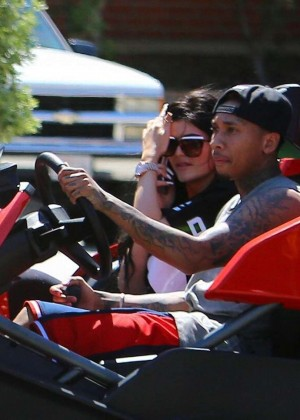 Kylie Jenner Out for a Ride with Tyga -05