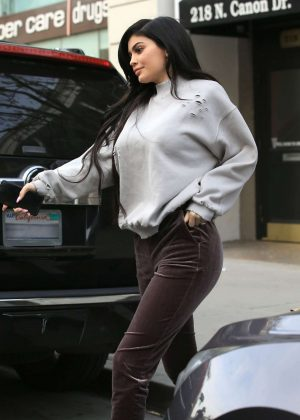 Kylie Jenner out for lunch at SugarFish in Beverly Hills