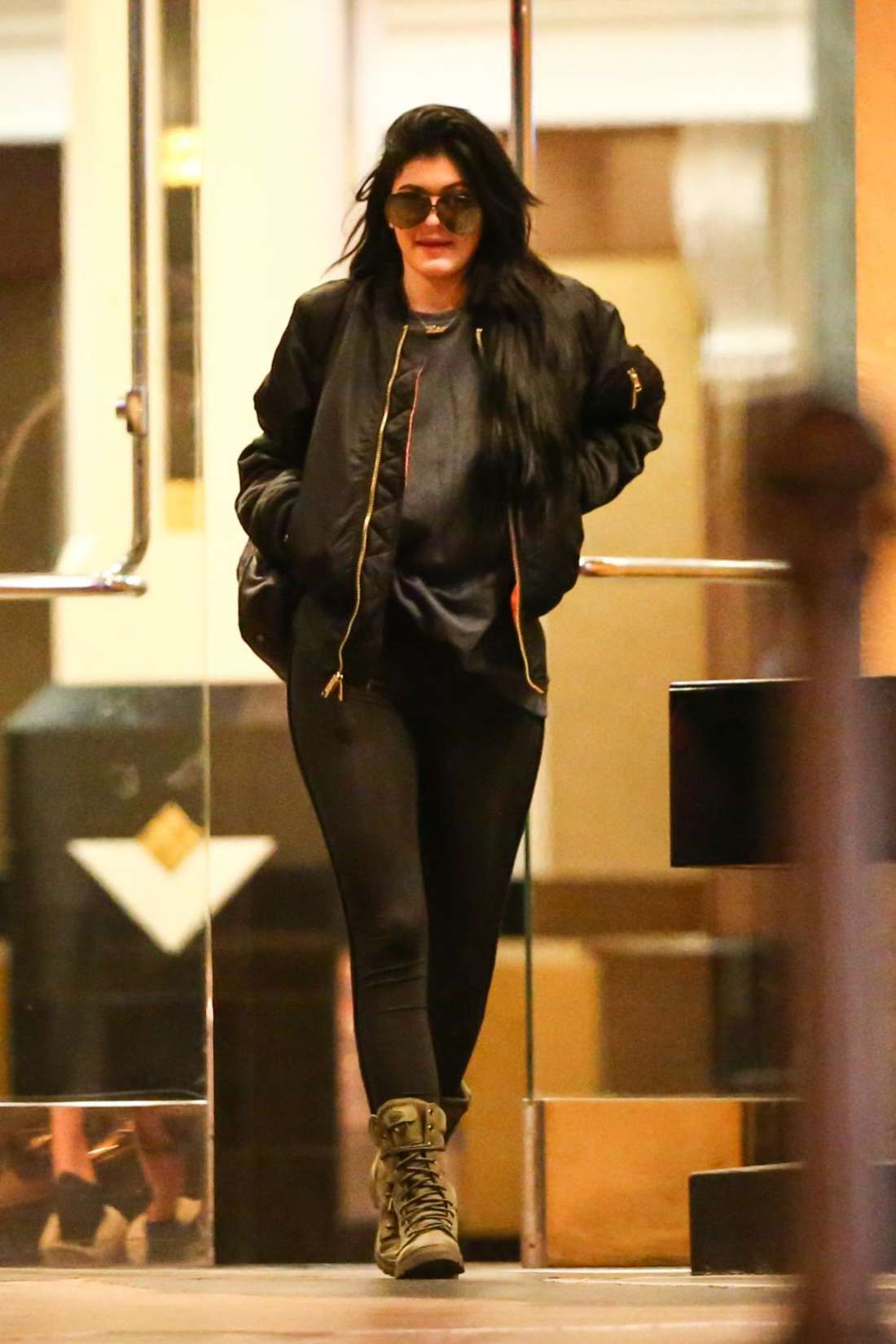 Kylie Jenner in Spandex Out in Los Angeles