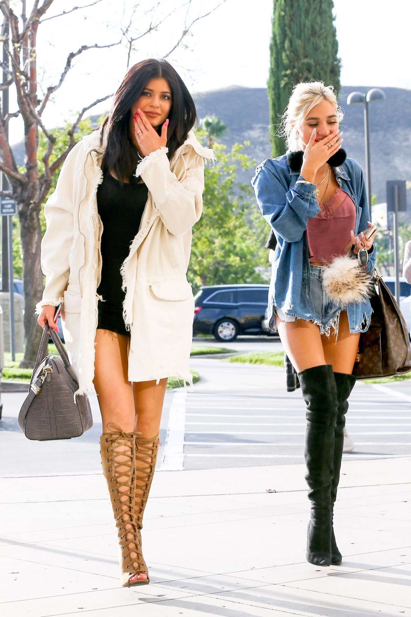 Kylie Jenner & Pia Mia Perez - Out in Calabasas
