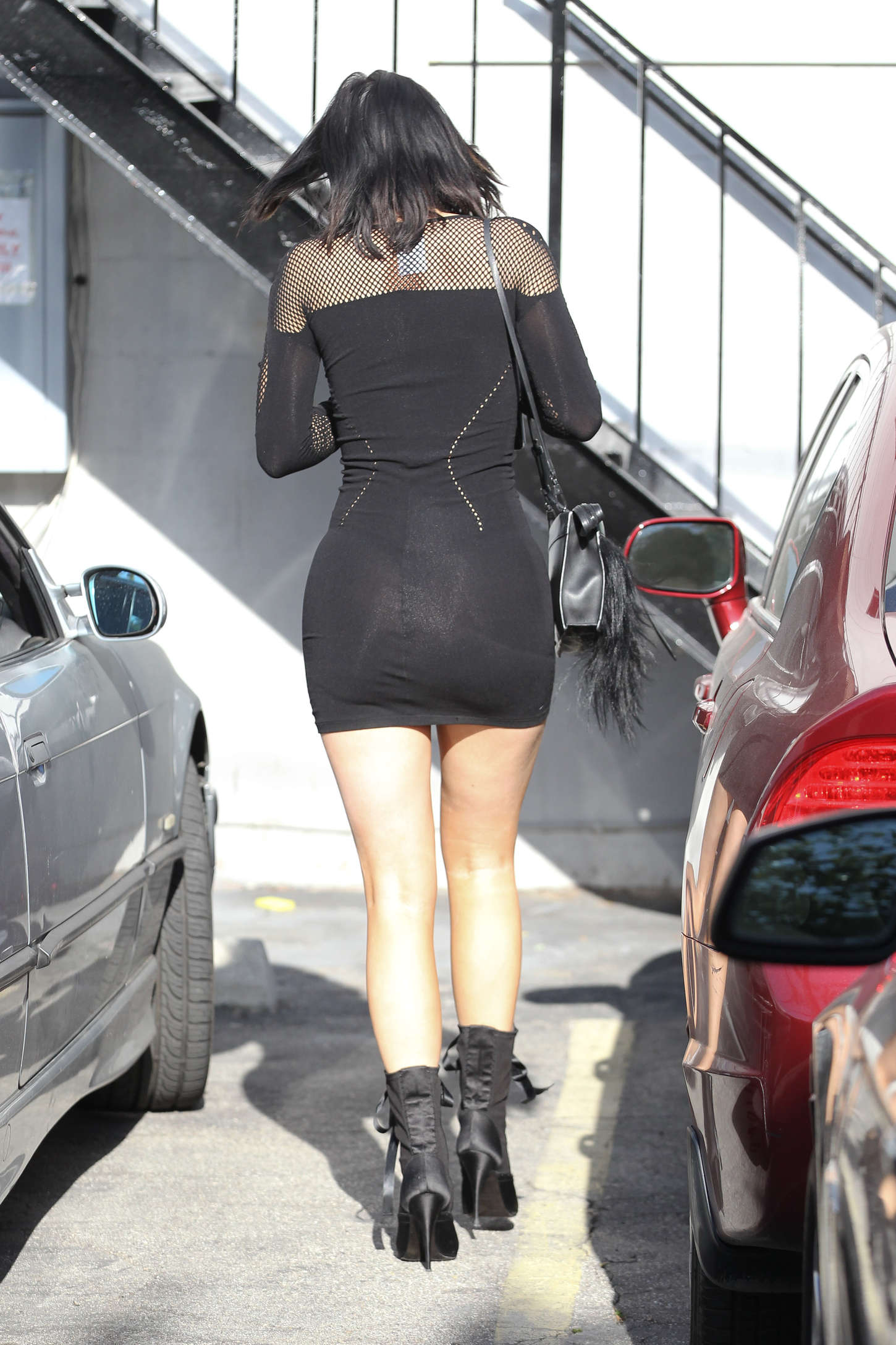 Kylie Jenner In Black Mini Dress 04 Gotceleb
