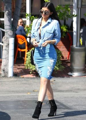 Kylie Jenner in Jeans Shopping in LA