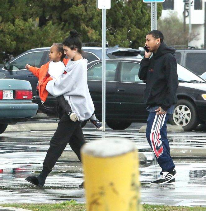 Kylie Jenner Shopping with Tyga and King Cairo in Calabasas