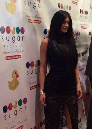 Kylie Jenner - Sugar Factory Grand Opening in Chicago