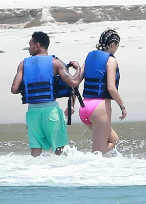Kylie Jenner in Pink Swimsuit -21