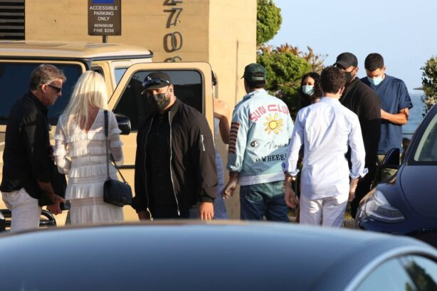 Kylie Jenner - with Fai Khadra and Zack Bia at Nobu in Malibu