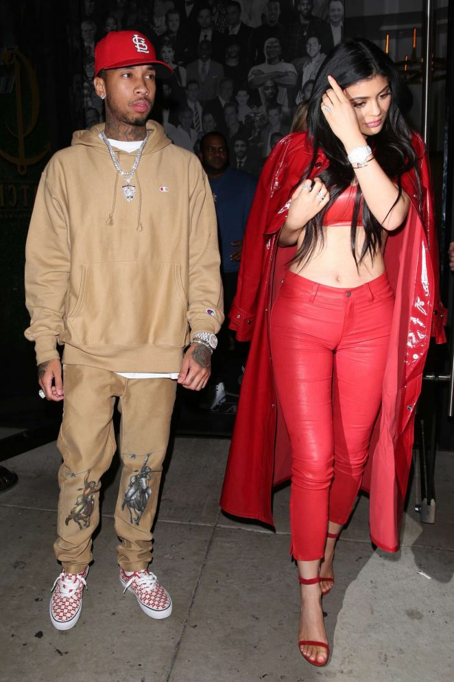 Kylie Jenner With Tyga at Catch LA in West Hollywood