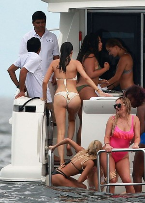 Kylie, Kendall Jenner and Hailey Baldwin: Bikini Candids at Yacht in Mexico-16