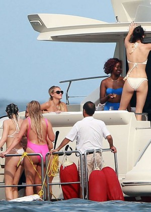 Kylie, Kendall Jenner and Hailey Baldwin: Bikini Candids at Yacht in Mexico-35