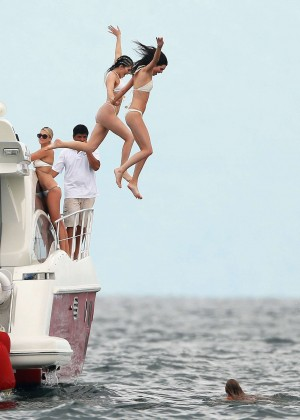 Kylie, Kendall Jenner and Hailey Baldwin: Bikini Candids at Yacht in Mexico-49