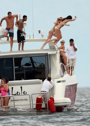 Kylie, Kendall Jenner and Hailey Baldwin: Bikini Candids at Yacht in Mexico-50